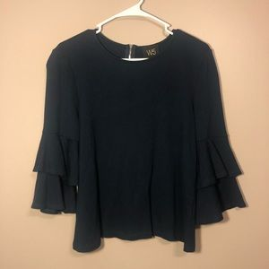 "Anthropologie ""W5"" Blouse with Peplum sleeves"